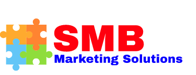 SMB marketing solutions puzzle logo red blue